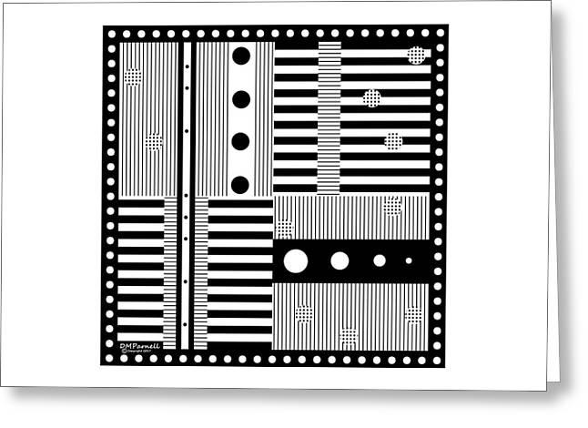 Grid Formal Attire Greeting Card