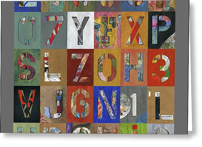 Grid Letters Greeting Card