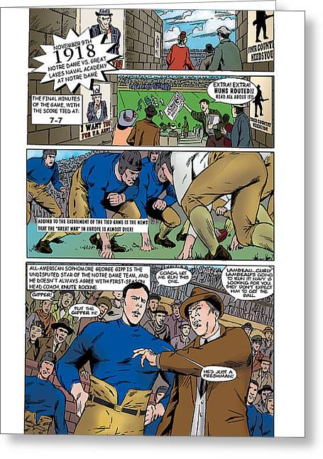 Gridiron The Beginning Page One Greeting Card by Greg Le Duc Ron Randall