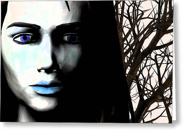Grief And Depression, Conceptual Image Greeting Card by Stephen Wood