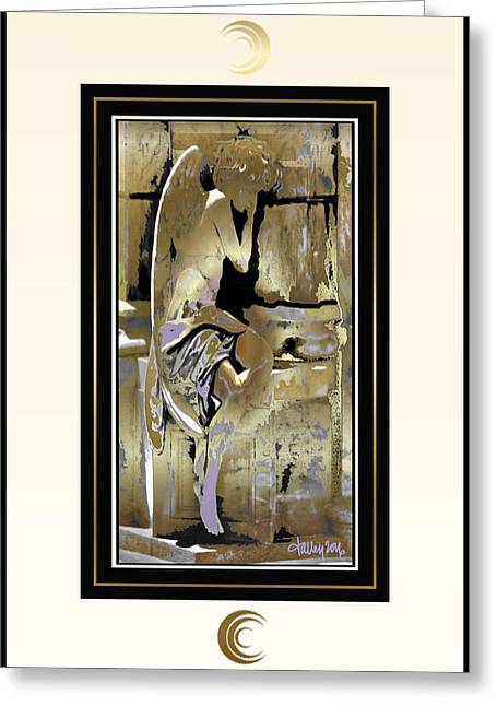 Grief Angel - Light Border Greeting Card
