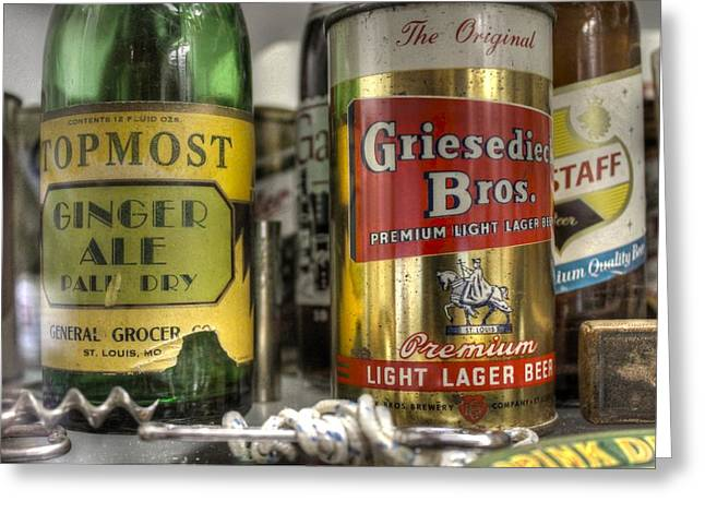Griesedieck Beer Falstaff Beer Ginger Ale Vintage Beer Cans Greeting Card
