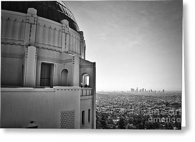 Griffith Observatory And Downtown Los Angeles Greeting Card