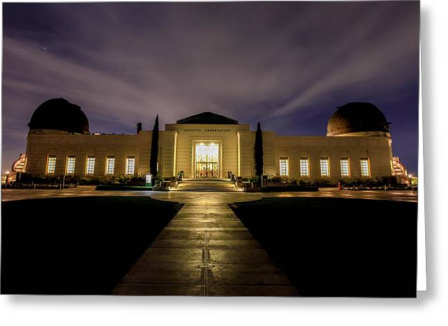 Griffith Observatory Greeting Card by Robert Aycock