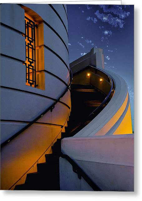 Griffith Observatory Side Entrance Greeting Card