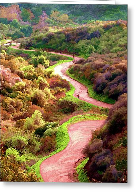 Griffith Park Trail Greeting Card