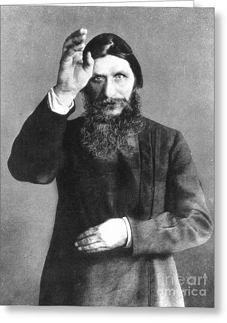 Gestures Greeting Cards - Grigori Efimovich Rasputin Greeting Card by Granger