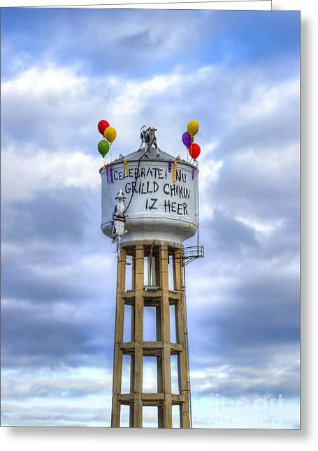 Grilld Chikin Atlanta Billboard Greeting Card by Reid Callaway