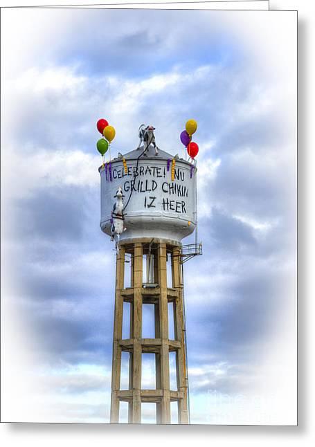 Grilld Chikin Lite Atlanta Billboard Greeting Card by Reid Callaway