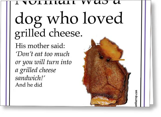 Grilled Cheese Dog Greeting Card