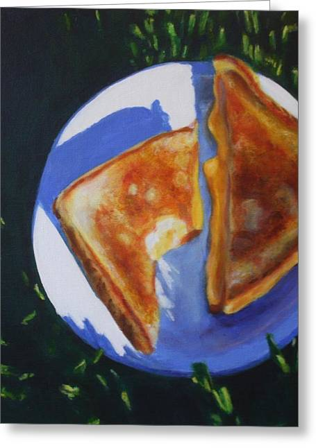 Grilled Cheese Please Greeting Card by Sarah Vandenbusch