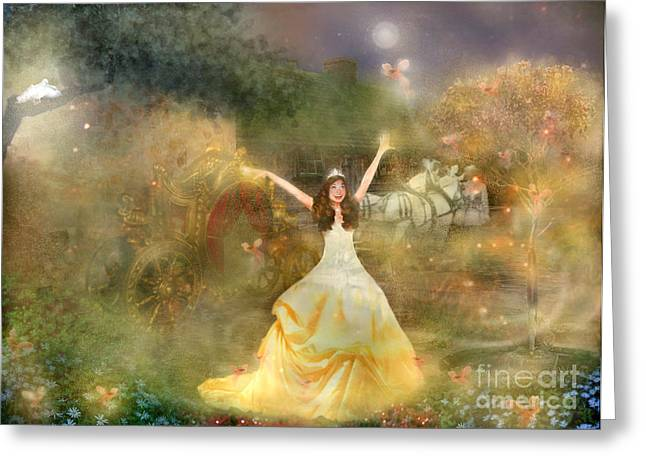 Grimms Fairie Cinderella  Greeting Card by Carrie Jackson