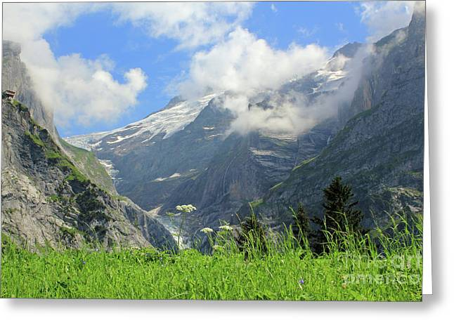Grindelwald Glacier In Switzerland Greeting Card by Pixelshoot Photography