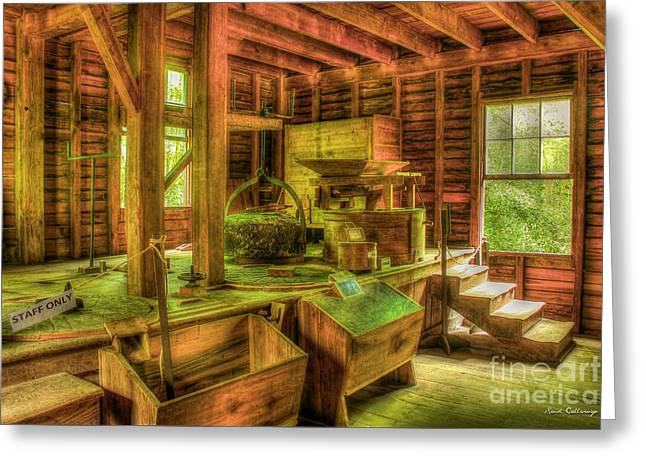 Greeting Card featuring the photograph Grindingworks Mingus Mill Great Smoky Mountains Art by Reid Callaway