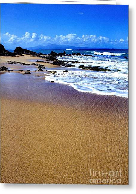 Gringo Beach Vieques Puerto Rico Greeting Card by Thomas R Fletcher