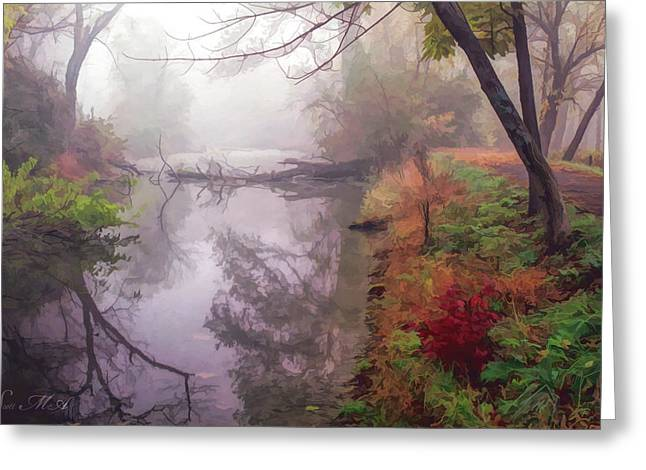 Grings Mill Fog 015 Greeting Card