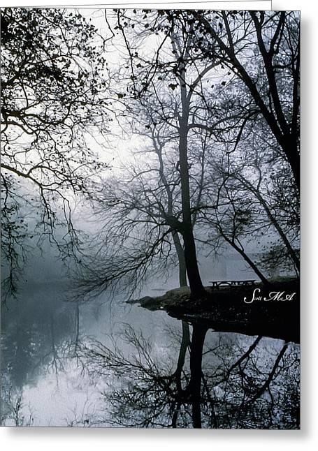 Grings Mill Fog 1043 Greeting Card