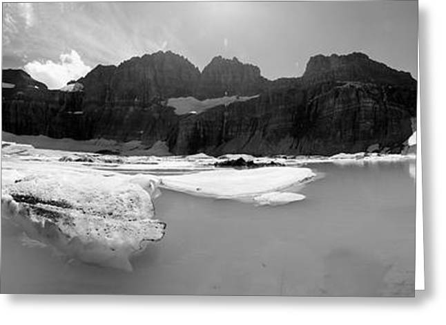 Grinnell Glacier Panorama Greeting Card by Sebastian Musial