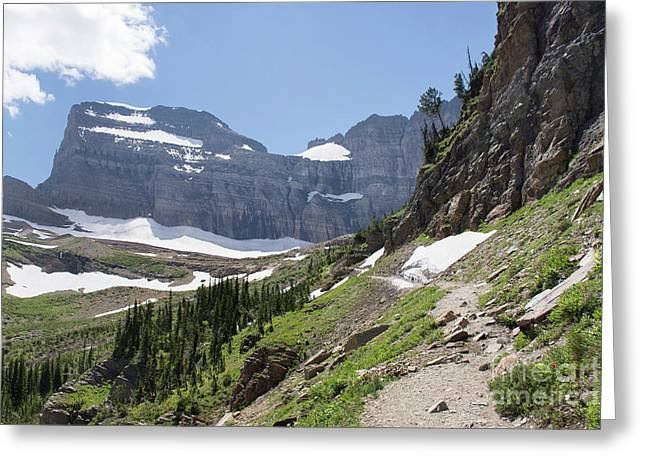 Grinnell Glacier Trail - Glacier National Park Greeting Card