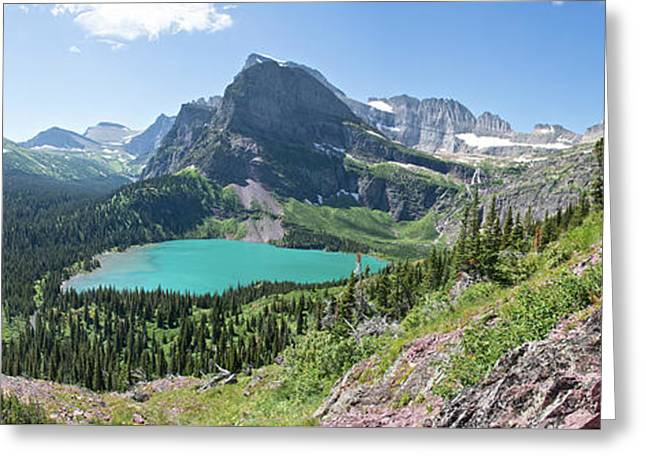 Grinnell Lake Panoramic - Glacier National Park Greeting Card