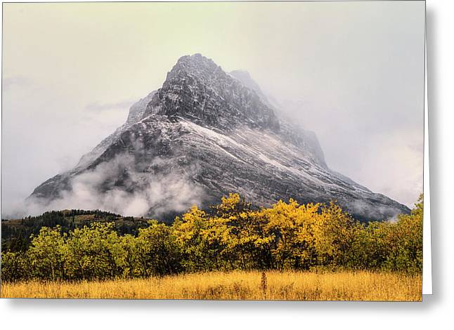 Grinnell Point Greeting Card by Mark Kiver