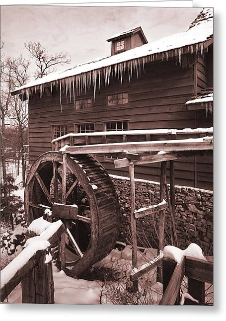 Grist Greeting Cards - Grist Mill at Siver Dollar City Greeting Card by Garry McMichael
