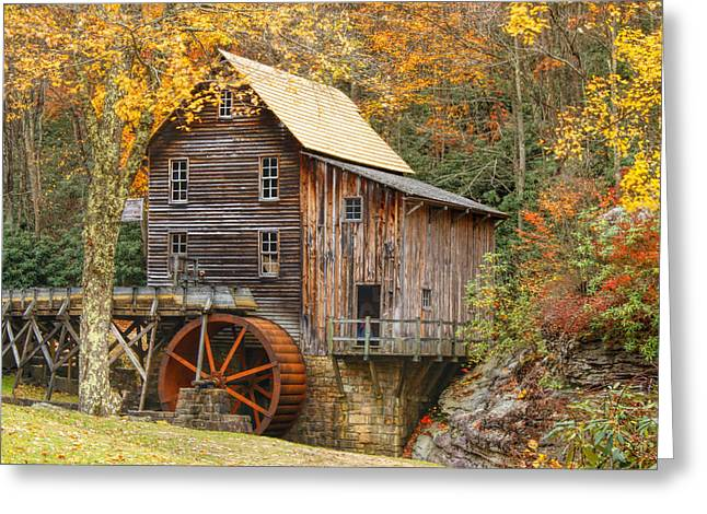 Grist Mill In Autumn Hues Greeting Card