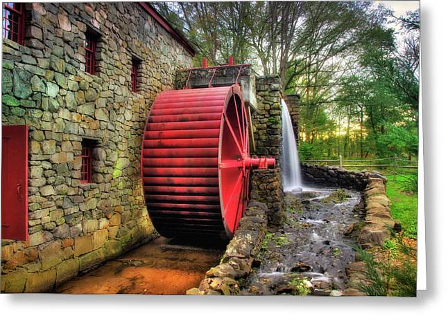 Greeting Card featuring the photograph Grist Mill In Autumn by Joann Vitali