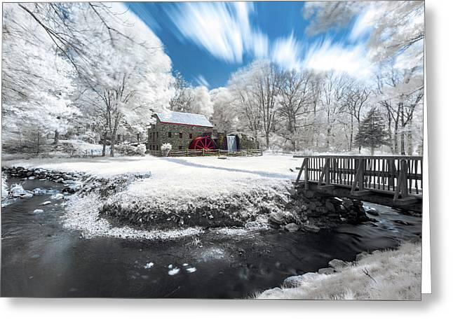 Grist Mill In Halespectrum Greeting Card