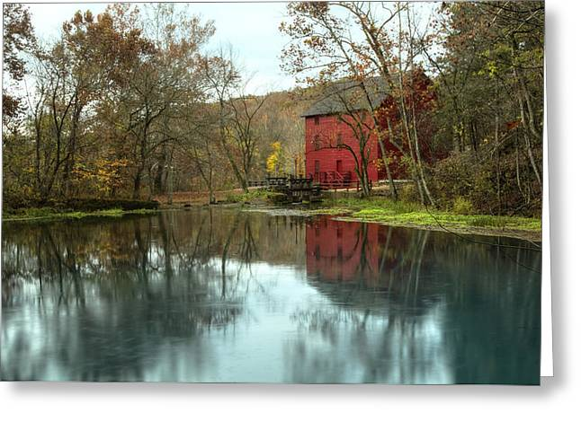 Grist Mill Wreflections Greeting Card