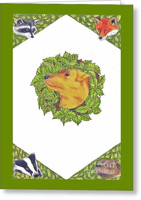 Grit The Tale Of A Hunting Terrier Greeting Card