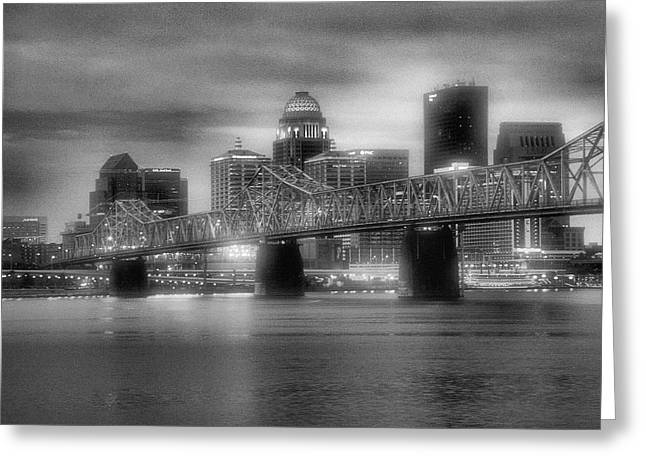 Ohio River Photographs Greeting Cards - Gritty City Greeting Card by Steven Ainsworth