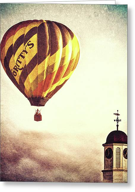 Gritty Mcduffs Hot Air Balloon Greeting Card by Bob Orsillo