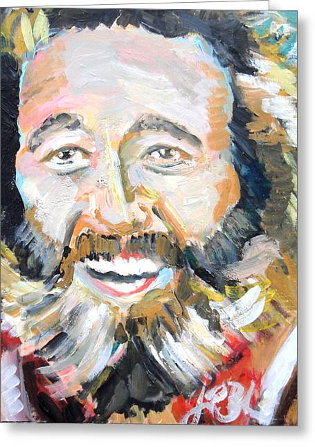 Grizzly Adams  Greeting Card by Jon Baldwin  Art