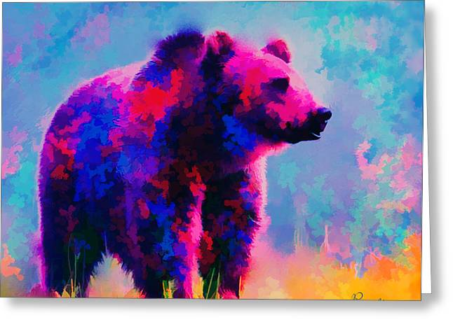 Grizzly Bear  Greeting Card by Rosalina Atanasova