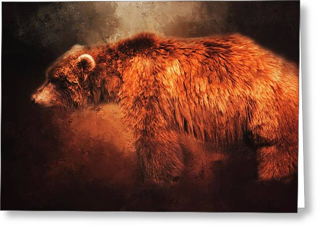 Grizzly Bear  Greeting Card by Toni Hopper