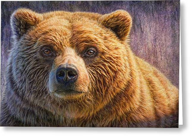 Grizzly Portrait Greeting Card by Phil Jaeger