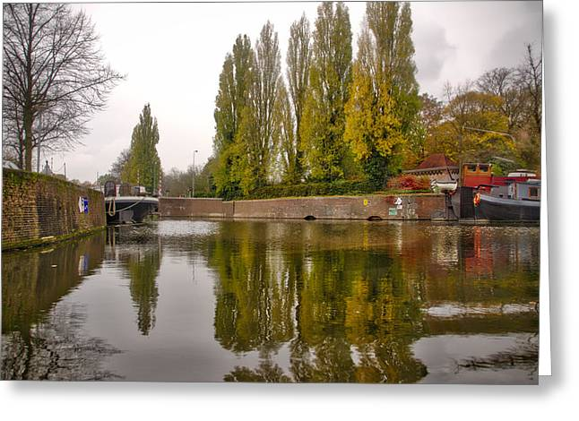 Groningen Canal Greeting Card