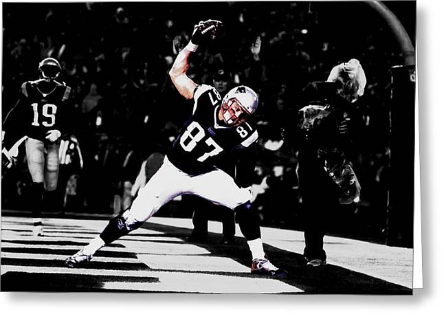 Gronk Greeting Card by Brian Reaves