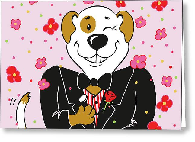 Groom Dog Greeting Card