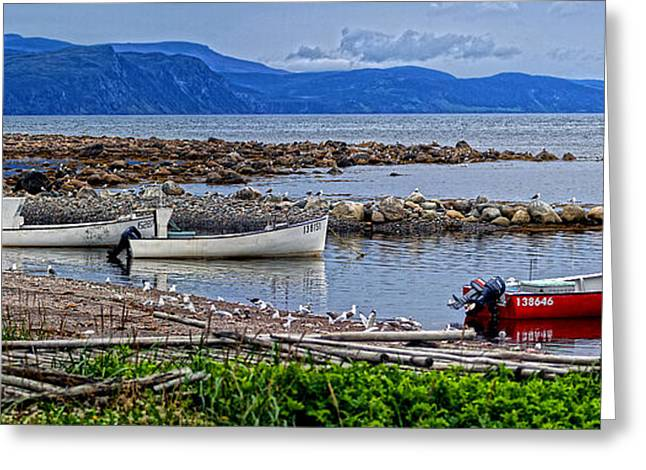Gros Morne Fishermans Cove Greeting Card