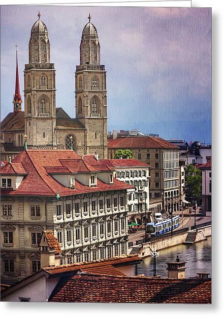 Grossmunster In Zurich Greeting Card