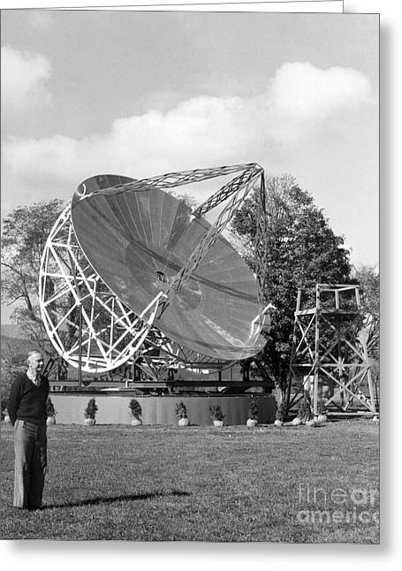 Grote Reber, American Radio Astronomer Greeting Card by Science Source