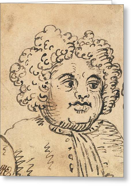 Grotesque Male Head Greeting Card
