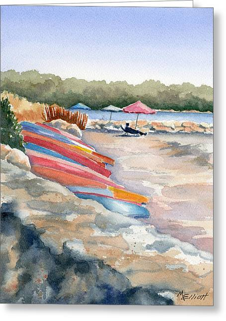 Kayaking Greeting Cards - Groton Long Point Greeting Card by Marsha Elliott