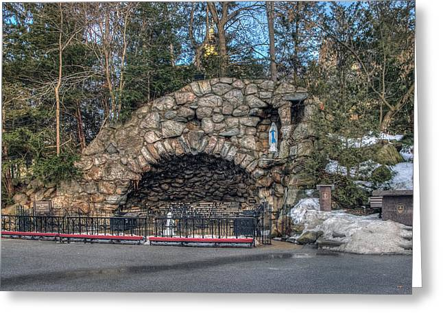 Grotto At Notre Dame University Greeting Card