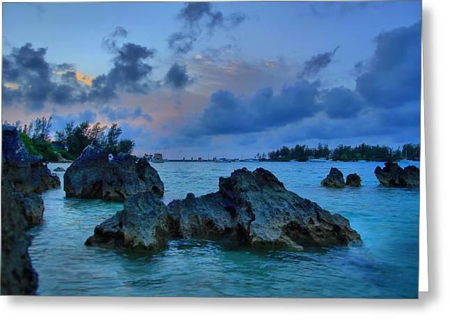 Grotto Bay - Bermuda Greeting Card by DJ Florek