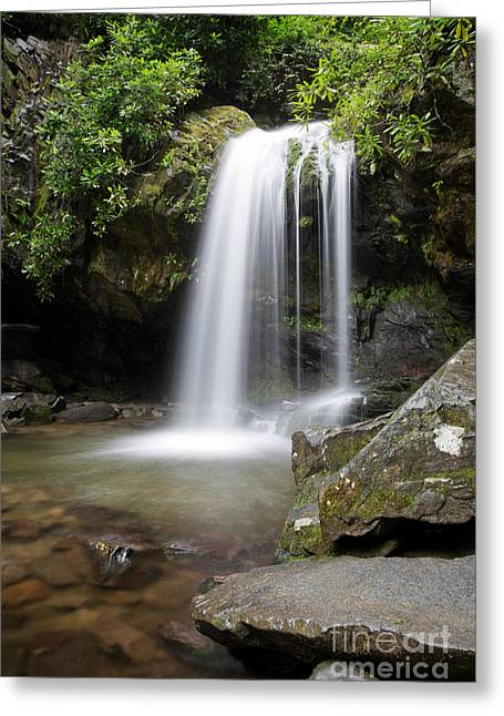 Grotto Falls Vertical Greeting Card