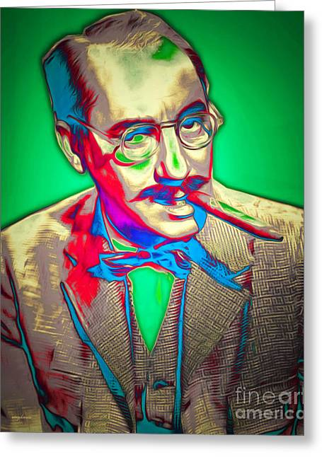 Groucho Marx 20151218v2 Greeting Card by Wingsdomain Art and Photography