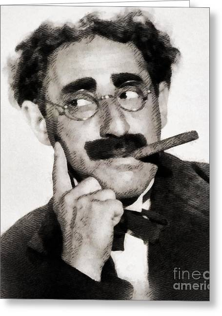 Groucho Marx By Js Greeting Card